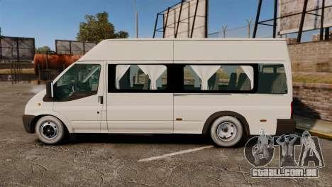 Ford Transit Passenger para GTA 4 esquerda vista