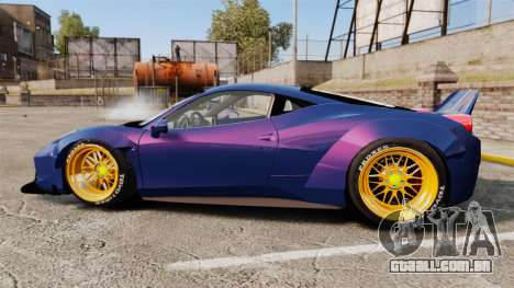 Ferrari 458 Italia Liberty Walk para GTA 4 esquerda vista