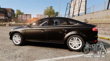 Ford Mondeo Unmarked Police [ELS] para GTA 4 esquerda vista