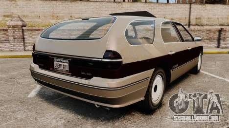 Solair 2000 Facelift para GTA 4 traseira esquerda vista