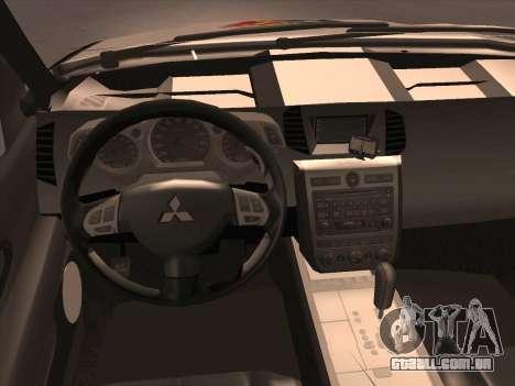 Mitsubishi L200 POLICIA para GTA San Andreas vista superior