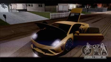 Lamborghini Gallardo LP560-4 Coupe 2013 V1.0 para o motor de GTA San Andreas