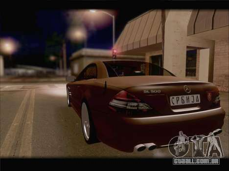 Mercedes SL500 v2 para vista lateral GTA San Andreas