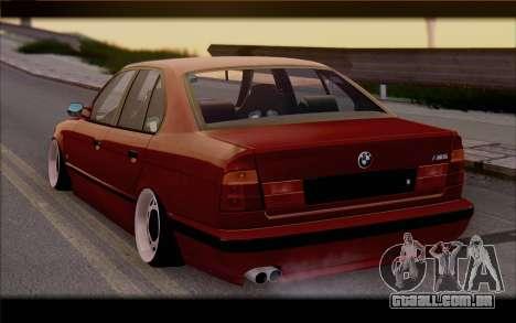 BMW E34 para GTA San Andreas esquerda vista