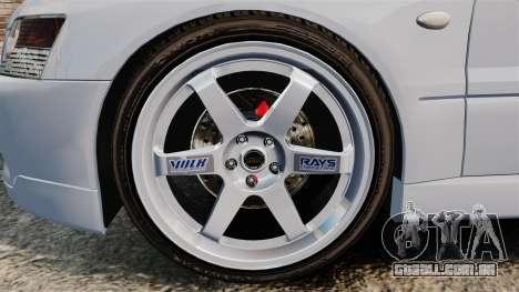 Mitsubishi Lancer Unmarked Police [ELS] para GTA 4 vista de volta