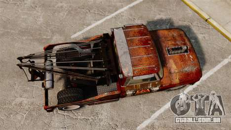 Chevrolet Tow truck rusty Rat rod para GTA 4 vista direita