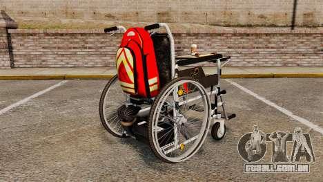 Funny Wheelchair para GTA 4 traseira esquerda vista