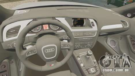 Audi S4 2010 para GTA 4 vista lateral
