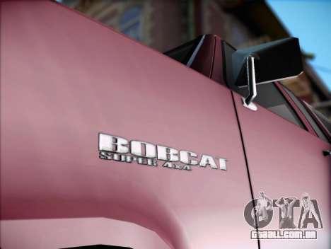 Bobcat insípida XL de GTA V para GTA San Andreas traseira esquerda vista
