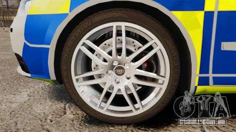 Audi S4 Avant Metropolitan Police [ELS] para GTA 4 vista de volta