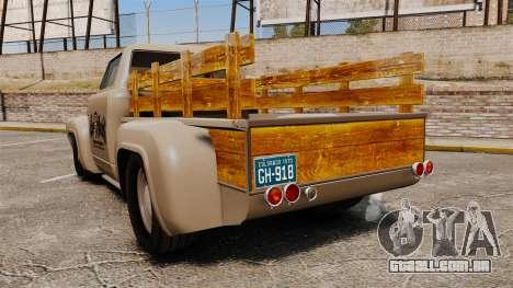 Hot Rod Truck Gas Monkey v2.0 para GTA 4 traseira esquerda vista