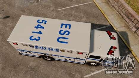 Hazmat Truck LCPD [ELS] para GTA 4 vista direita
