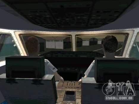 Boeing-747 Dream Lifter para GTA San Andreas traseira esquerda vista