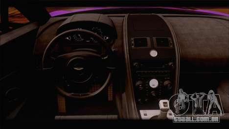 Aston Martin V12 Zagato 2012 [HQLM] para GTA San Andreas vista inferior