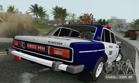 Polícia de 2106 VAZ para GTA San Andreas traseira esquerda vista