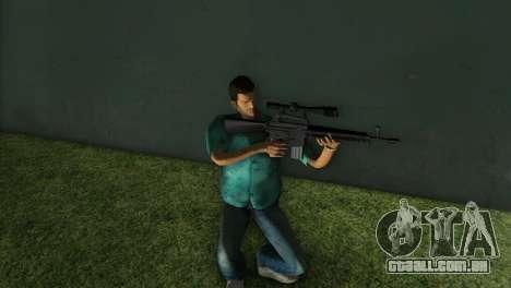 M-16 com uma arma de Sniper para GTA Vice City terceira tela