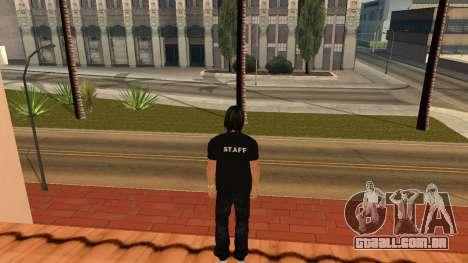 Pele de alta qualidade pessoal para GTA San Andreas por diante tela