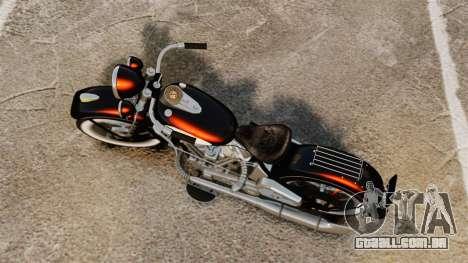 Harley-Davidson Knucklehead 1947 para GTA 4 traseira esquerda vista