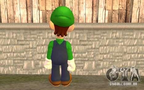 Luigi para GTA San Andreas segunda tela
