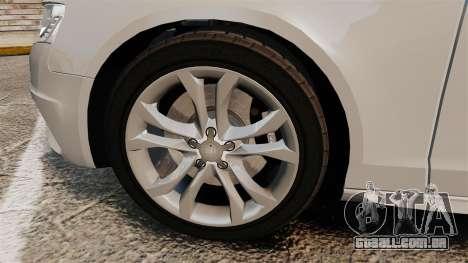 Audi S4 2010 para GTA 4 vista de volta