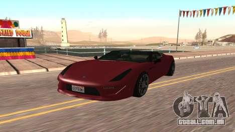 Carbonizzare de GTA 5 para GTA San Andreas esquerda vista