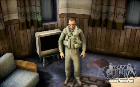 Nicholas de Call of Duty MW2 para GTA San Andreas segunda tela