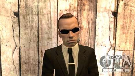 Smith de matrix filme para GTA San Andreas terceira tela