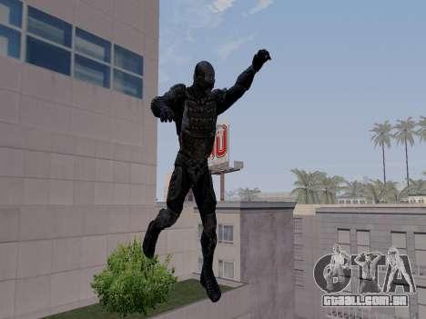 Nano-terno coreano de Crysis para GTA San Andreas por diante tela