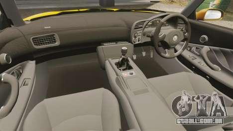 Honda S2000 (AP1) para GTA 4 vista interior