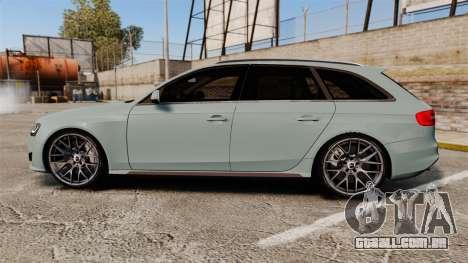 Audi RS4 Avant para GTA 4 esquerda vista