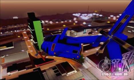 Fun Maverick para GTA San Andreas traseira esquerda vista