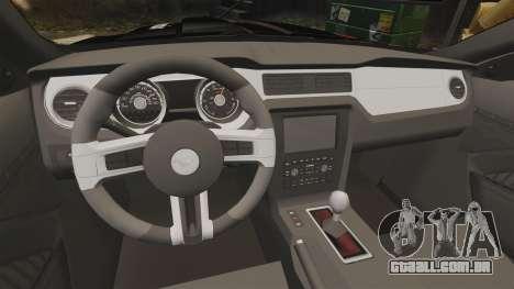 Ford Mustang GT 2013 NFS Edition para GTA 4 vista interior