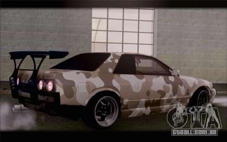 Nissan Skyline GTS Drift Spec para GTA San Andreas esquerda vista