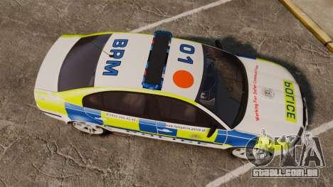 Skoda Superb 2006 Police [ELS] Whelen Edge para GTA 4 vista direita