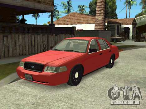 Ford Crown Victoria Unmarked Police para GTA San Andreas