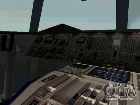 Boeing-747-400 Airforce one para GTA San Andreas vista traseira