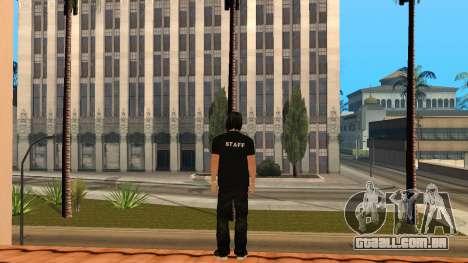 Pele de alta qualidade pessoal para GTA San Andreas terceira tela