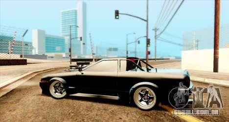 Elegy pickup v2.0 para GTA San Andreas traseira esquerda vista