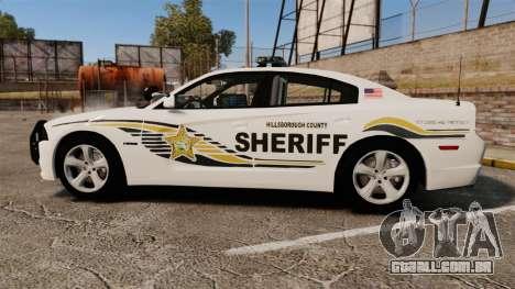 Dodge Charger RT 2012 Police [ELS] para GTA 4 esquerda vista