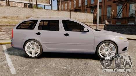 Skoda Octavia RS Unmarked Police [ELS] para GTA 4 esquerda vista