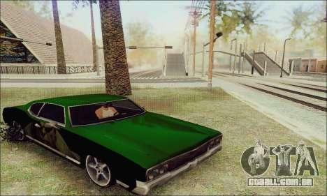 Modified Sabre Low para GTA San Andreas vista traseira