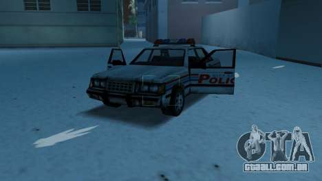 BETA Police Car para GTA Vice City vista interior
