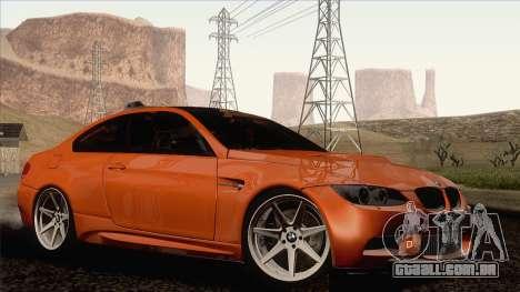 BMW M3 E92 2008 Vossen para GTA San Andreas esquerda vista