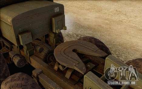 MAZ 535 para GTA San Andreas vista traseira