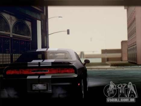 Dodge Challenger SRT8 2012 HEMI para GTA San Andreas vista direita