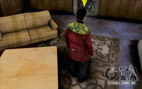 Cara asiático para GTA San Andreas segunda tela