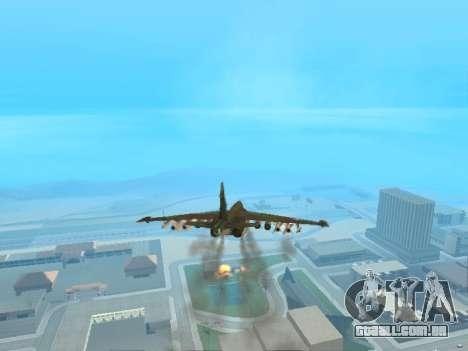 Su-25 para GTA San Andreas vista traseira