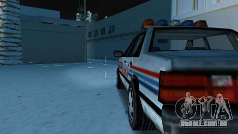 BETA Police Car para GTA Vice City vista direita