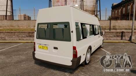 Ford Transit Passenger para GTA 4 traseira esquerda vista