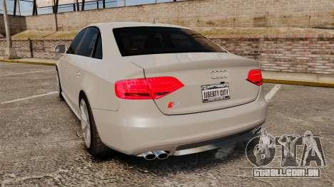 Audi S4 2010 para GTA 4 traseira esquerda vista